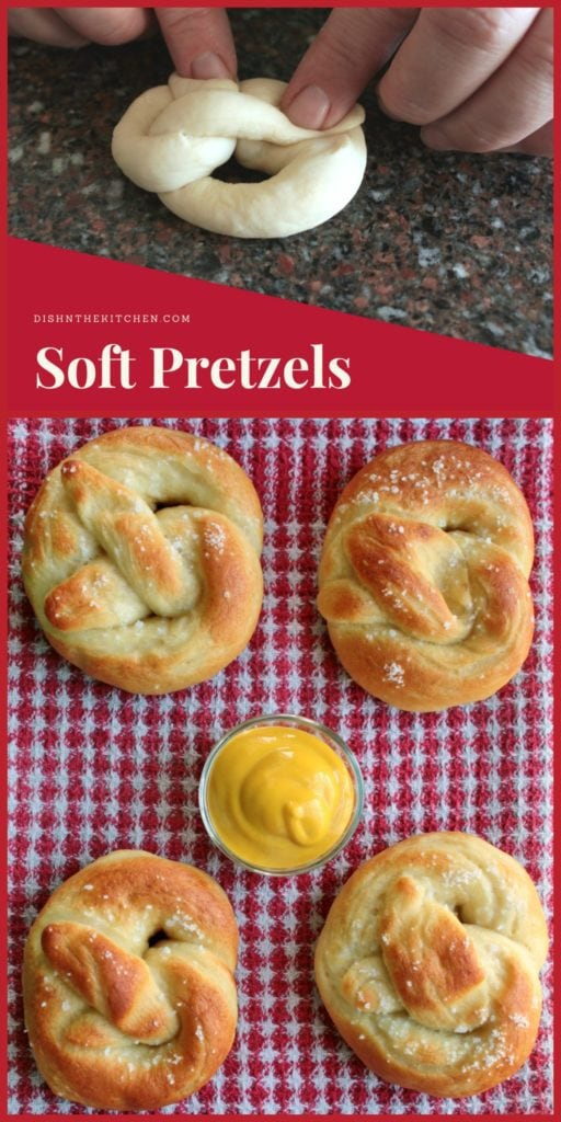 These Soft and Chewy Pretzels are super easy to make...and eat! #pretzels #baking