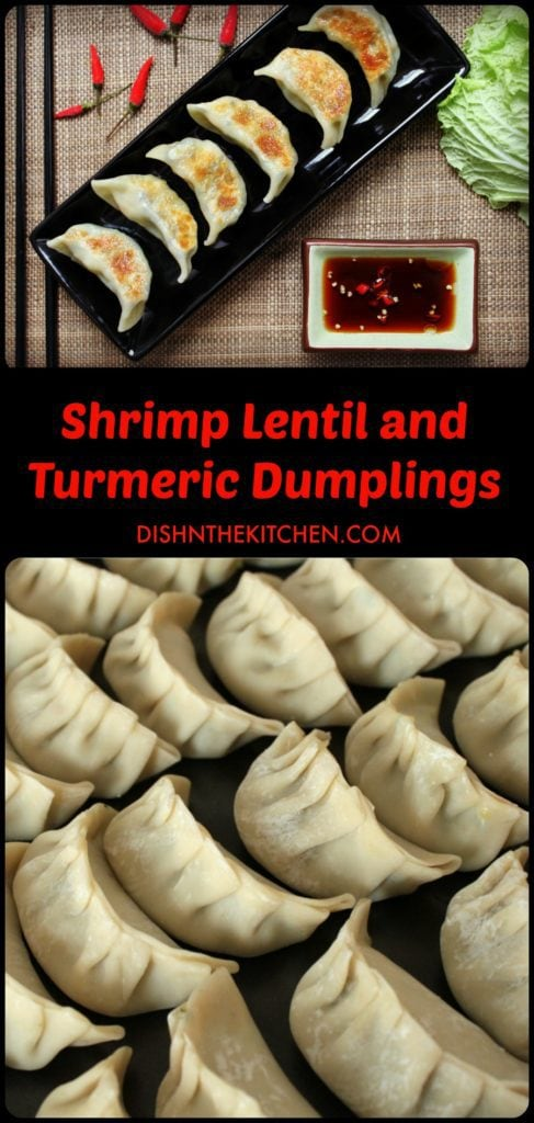 Golden fried dumplings filled with minced shrimp, lentils, and fresh turmeric. #dumplings #turmeric #appys
