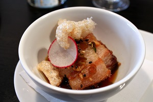 Pork Belly with Chicarrons from Anju Restaurant