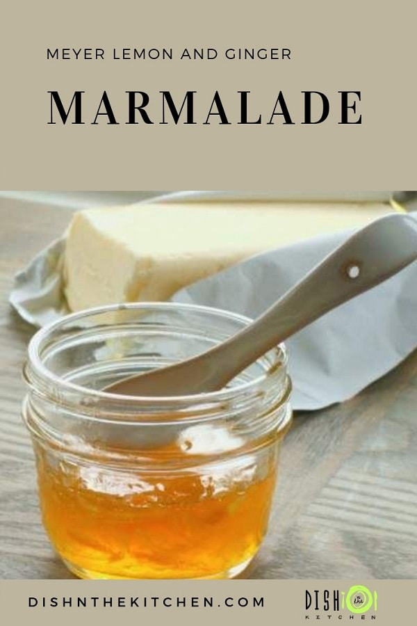 Spreading this delicious Meyer Lemon Marmalade over your toast is like spreading a bit of sunshine. What a great way to absorb your Vitamin C! The flavour is a bit on the milder side for a marmalade, making it accessible to many who would not enjoy marmalade in the traditional sense. #citrus #marmalade #meyerlemon #meyerlemonmarmalade #breakfast