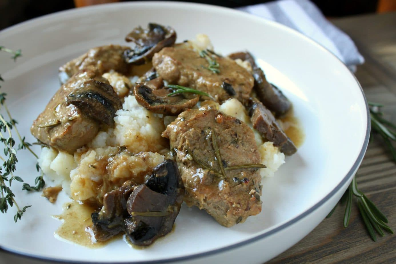 Instant Pot Pork Medallions with herbs and Mushrooms Recipe | We've scoured the internet for some of the best Instant Pot Recipes, and found an amazing assortment! You'll love these handpicked Instant Pot recipes, | Homestead Wishing, Author Kristi Wheeler | https://homesteadwishing.com/instant-pot-recipes/ | instant-pot-recipes #instantpotrecipes #recipes #pressurecookerrecipes #pressurecooker