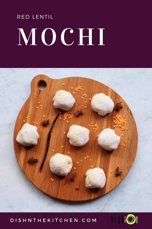 These Red Lentil Mochi are an adaptation of traditional Japanese mochi using red lentils in place of sweetened adzuki beans. #mochi #redlentils