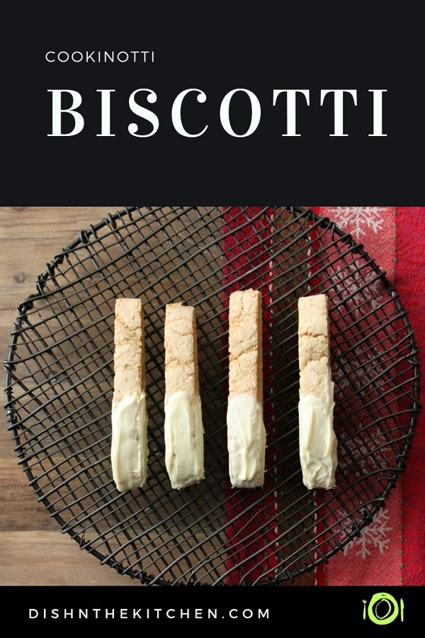 Flavored with Cookinotti and baked until lightly crisped and golden, these Cookinotti Biscotti are the perfect little bite to spice up your day. #biscotti #Cookinotti #CookinottiBiscotti #Cookies #BakedGifts