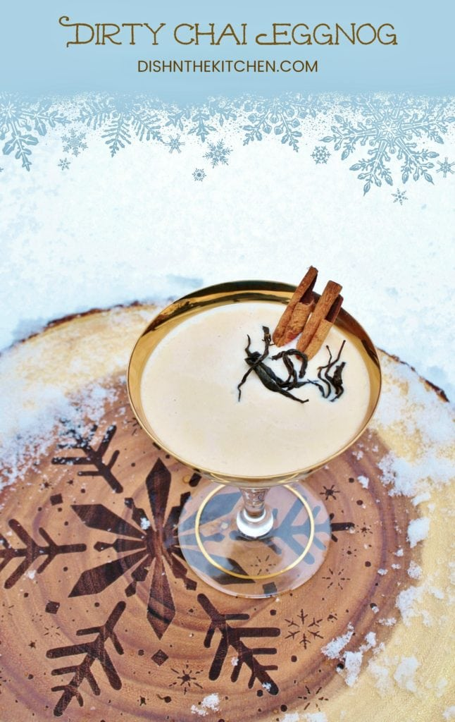 Dirty Chai Eggnog - a holiday cocktail featuring espresso and chai flavours #cocktail #holidaycocktail #chai #espresso #dirtychai #eggnog