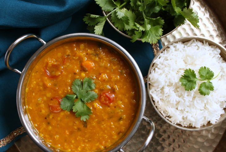 Warm up your tummy with the ultimate in healthy comfort food: Make this delicious Kabocha Squash Daal for those chilly fall nights. #daal #comfortfood #dinner #quickdinner #kabochasquash