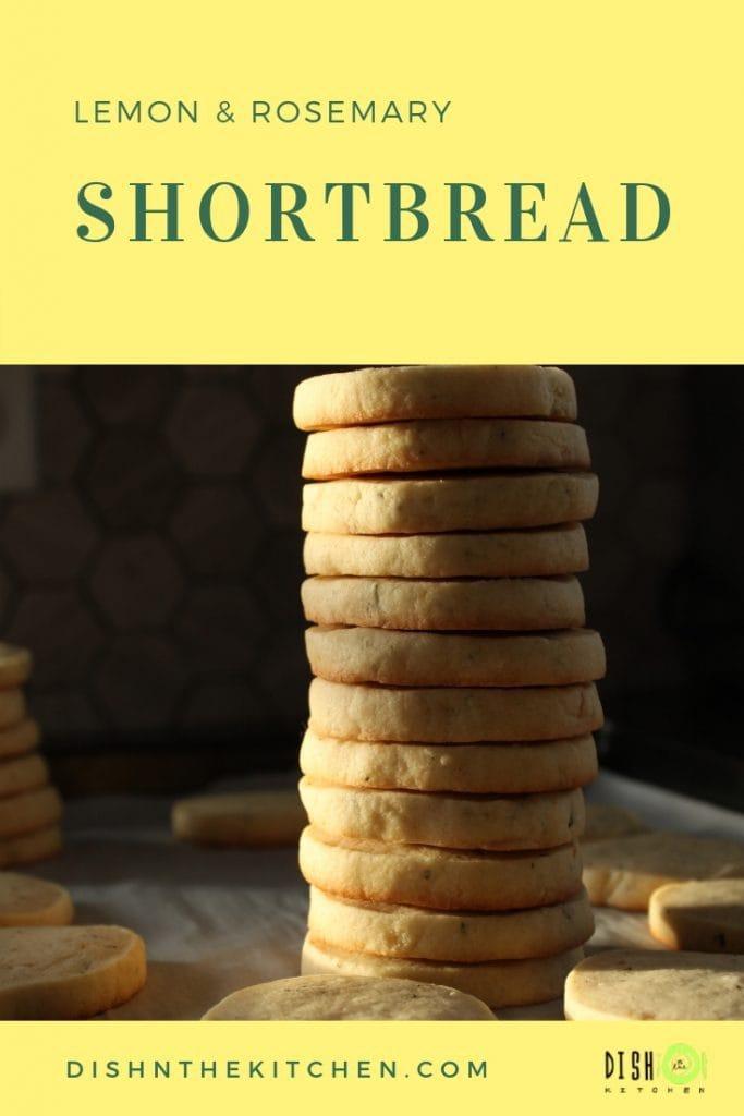 Rich and Buttery Lemon Rosemary Shortbread #shortbread #lemon #citrus #sweetandsavoury #cookies
