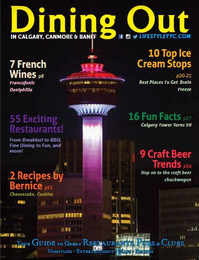 The cover of Dining Out Magazine Summer 2018