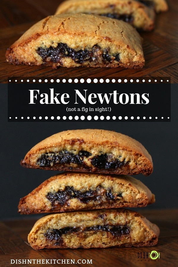 There's something magic about prunes, walnuts, and cinnamon wrapped up in this orange scented dough. New flavours form a new favourite classic cookie. Just like Fig Newtons, but better! #fignewtons #fakefignewtons #copycatrecipe #cookies