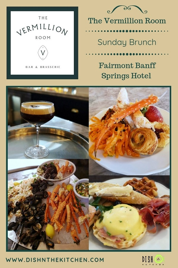 Weekend Brunch at The Vermillion Room in the Banff Springs Hotel is the ultimate luxurious weekend brunch in the Canadian Rockies. #weekendbrunch #FairmontBanff #BanffAlberta #AlbertaTourism #FairmontBanffSpringsHotel
