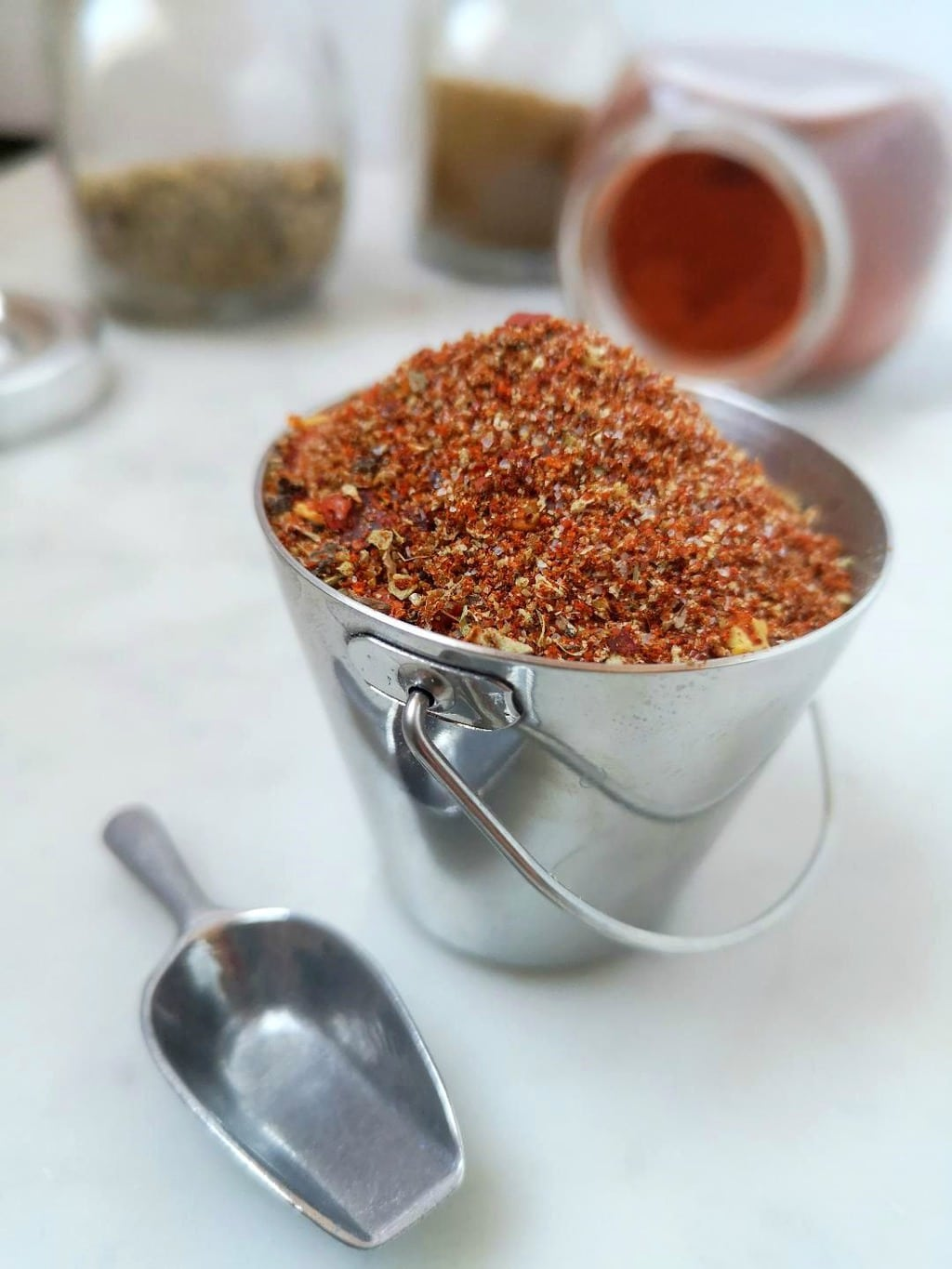 Whipping up a batch of homemade taco seasoning is easier than you think and once you've made it you'll never go back to the store packets. #tacoseasoning #tacos #spices #spicemix